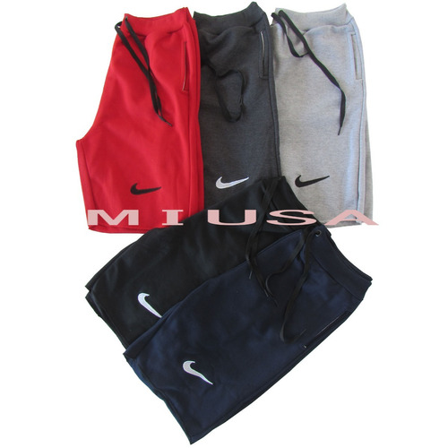 kit 5 bermudas moleton nike masculina academia shorts moda