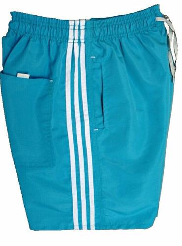 kit 5 bermudas short tactel 3 bolsos costura reforçada
