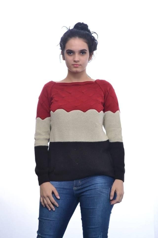 197288e24b kit 5 blusa feminina tricot 3d escamas - moda inverno 2018. Carregando zoom.