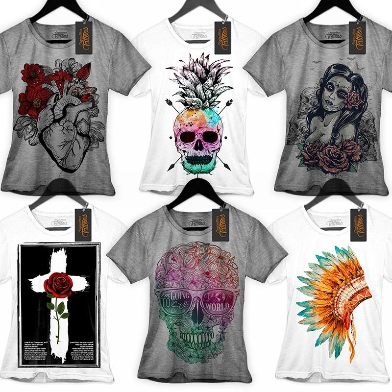 6df022a6b ... camiseta roupas feminina caveira promoção frete. Carregando zoom.