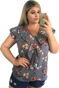 b81447026 Blusa Plus Size - Calçados, Roupas e Bolsas no Mercado Livre Brasil