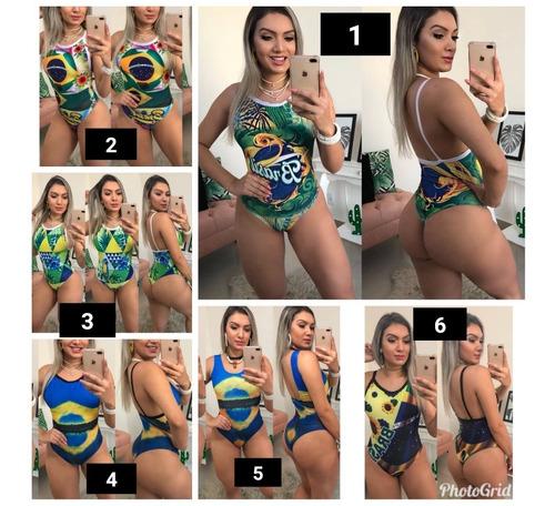 kit 5 bodys femininos  copa do mundo rússia 2018 atacado