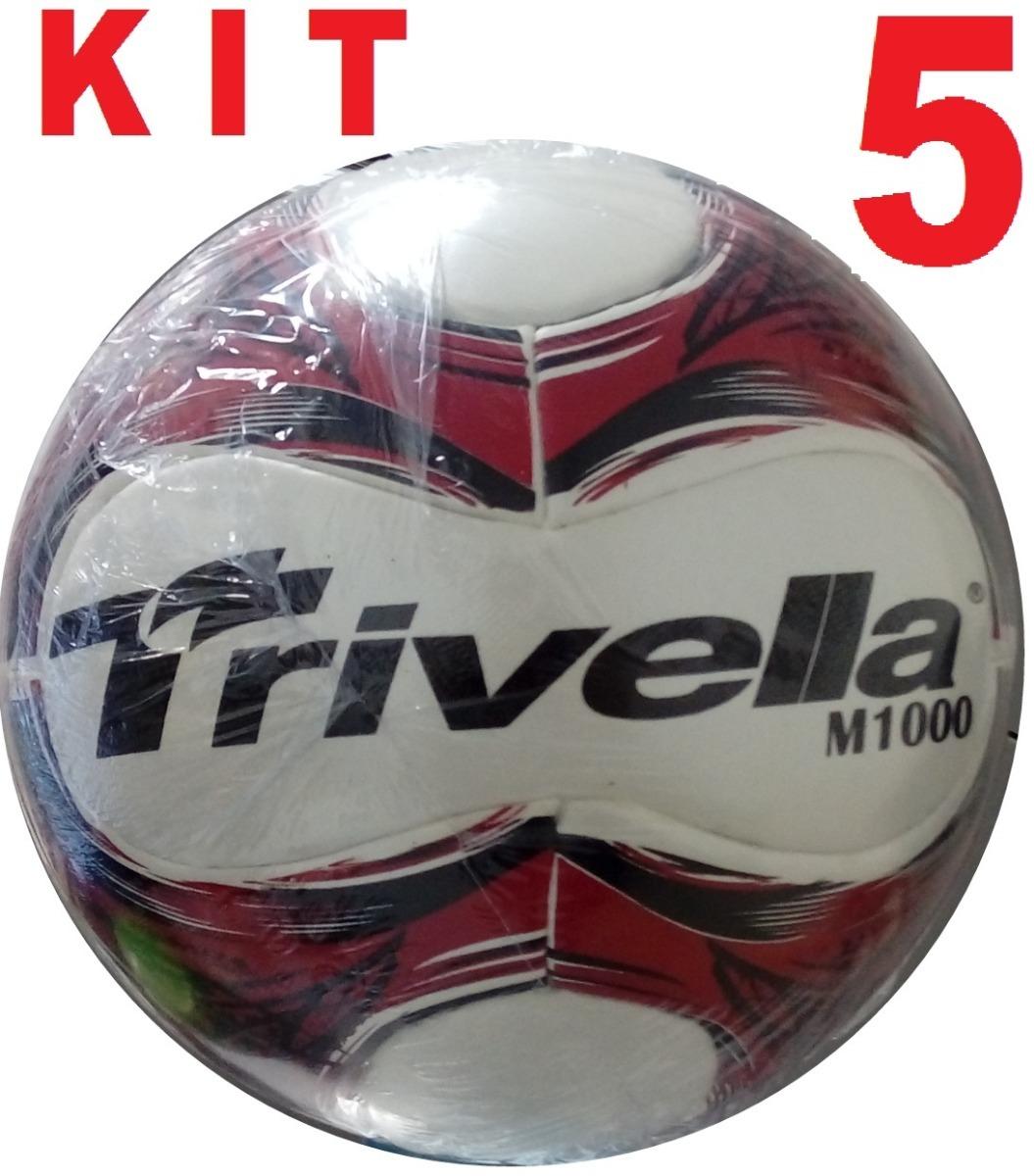 9659dbb5d1 kit 5 bolas de futebol futsal 100% pu trivella- brasil gold. Carregando zoom .