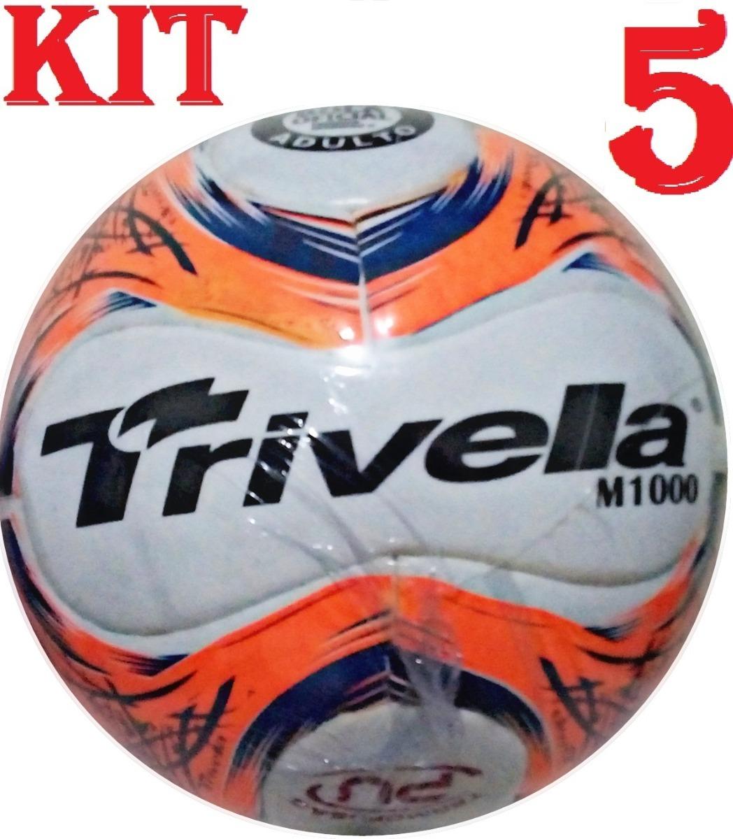 Kit 5 Bolas De Futsal Trivella Original - Brasil Gold - R  300 2016a3018998d