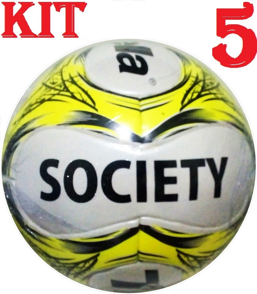 e639e9477d kit 5 bolas futebol society 100% pu trivella - brasil gold. Carregando zoom.