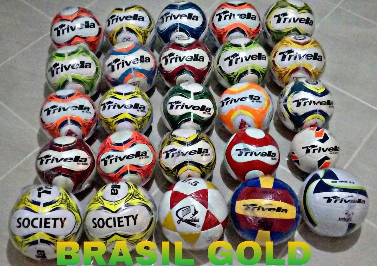 ddbda845c4 kit 5 bolas futsal futebol trivella original - brasil gold. Carregando zoom.