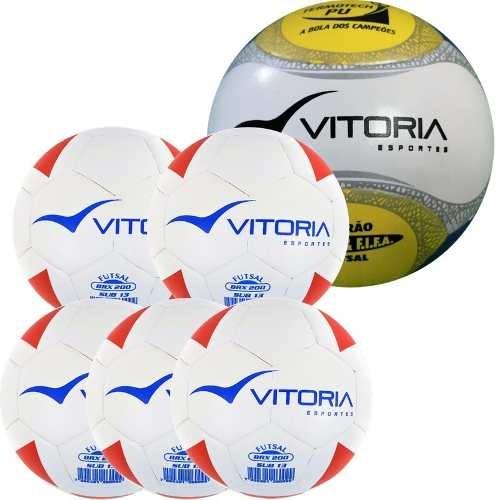 858f61606a Kit 5 Bolas Sub 13 Max 200 + 1 Bola Futsal Oficial 500 - R  279