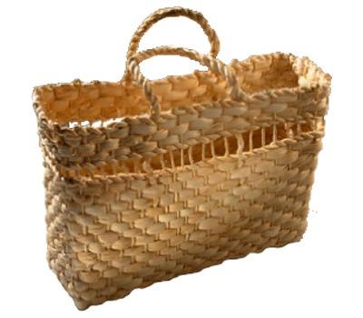 kit 5 bolsas palha de milho praia feira ref.2604 32x12x22cm