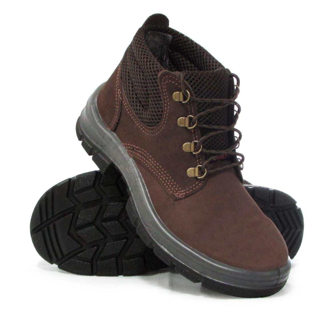 d4fd8ea85323d kit 5 botas botina epi segurança crival nobuck marrom cp092. Carregando  zoom.