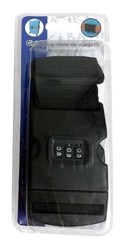 kit 5 cadeado com senha e fita para malas de viagem bagagem