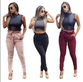 0a284a228 Calca Bengaline Atacado - Calças Feminino no Mercado Livre Brasil