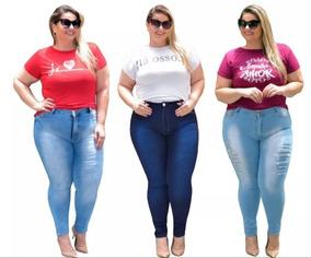bb9e31192 Calça Jeans Feminina Tam. 48 50 52 54 - Calças Feminino no Mercado ...