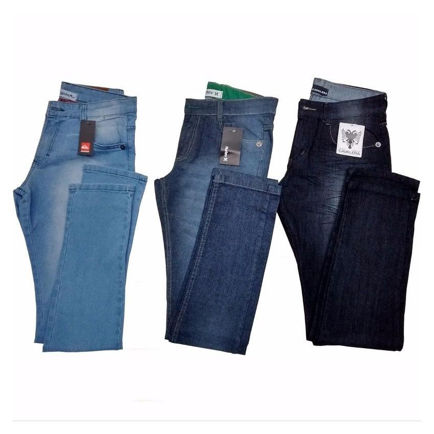 Kit 5 Calça Jeans Masculina De Marca Diversas Cores Atacado - R  218 ... 339e3aa0018