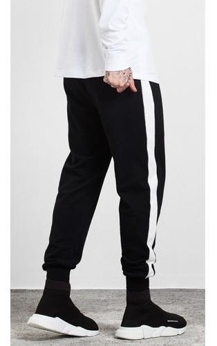 kit 5 calças de moletom com listra lateral vcstilo atacado