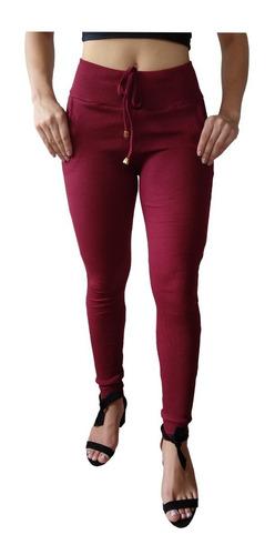 kit 5 calças feminina ribana canelado tipo moletom promoção