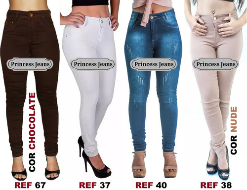 kit 5 calças jeans feminina hot pants cintura premium luxo
