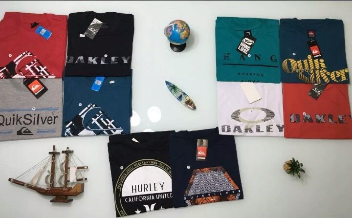 17387769c64bb Kit 5 Camisa Camiseta Blusa Masculina Oakley Atacado Roupas - R  153 ...