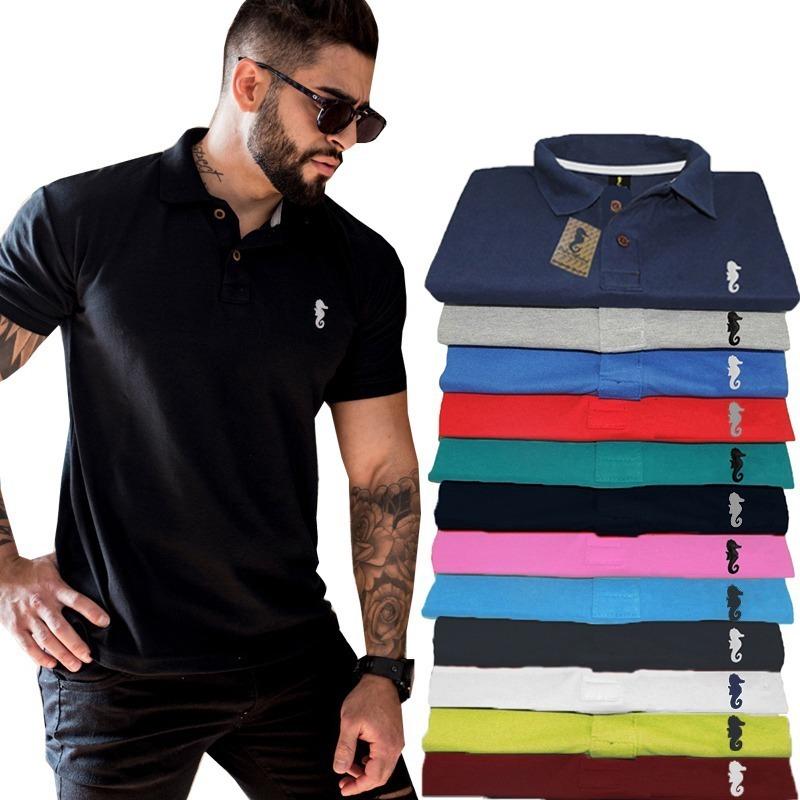 62f61865ab Kit 5 Camisa Gola Polo Masculina Camiseta Atacado Revenda - R  139 ...