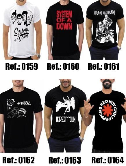 Kit 5 Camisa Led Zeppelin Camisetas Banda De Rock Monster Of - R ... d59127453e9cb