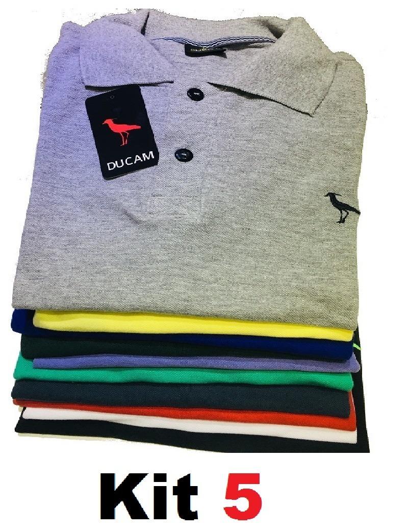 ec18890f28 kit 5 camisa polo masculina camiseta polo    revenda atacado. Carregando  zoom.