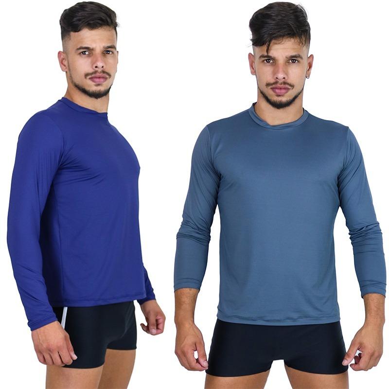 kit 5 camisa térmica masculina segunda pele praia uv surf. Carregando zoom. 8e87b1cdcb6