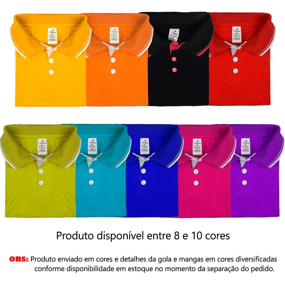 kit 5 camisas blusa feminina gola polo uniforme farda social. Carregando  zoom. 8d05c698e92de