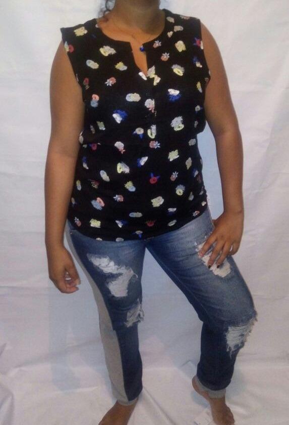 16ce222e1f kit 5 camisas blusa feminina social sem manga tecido+ brinde. Carregando  zoom.
