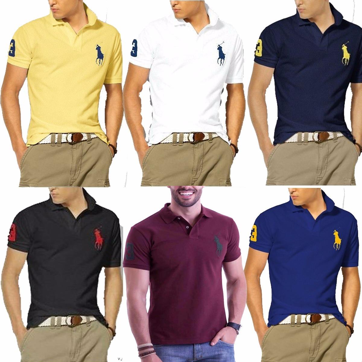 Kit 5 Camisas Camisetas Revenda Gola Polo Masculina Atacado - R  89 ... 8c86dd27ade94