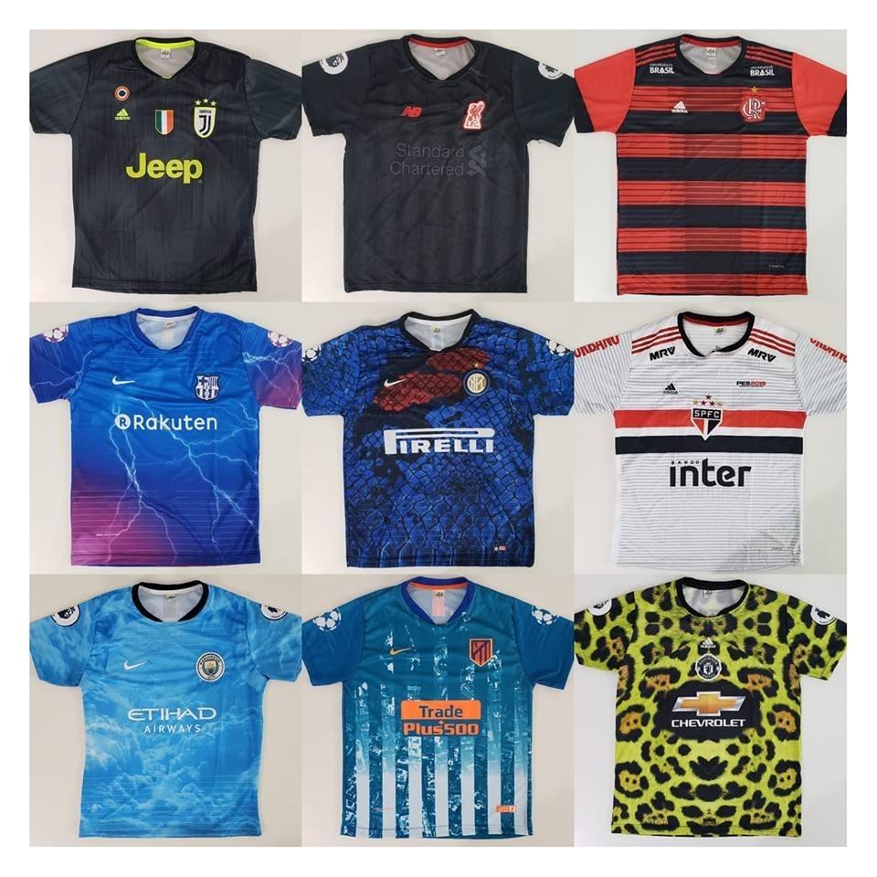 9fd6d8de13430 Kit 5 Camisas De Time Futebol Camisetas Futebol Raynstore® - R  120 ...