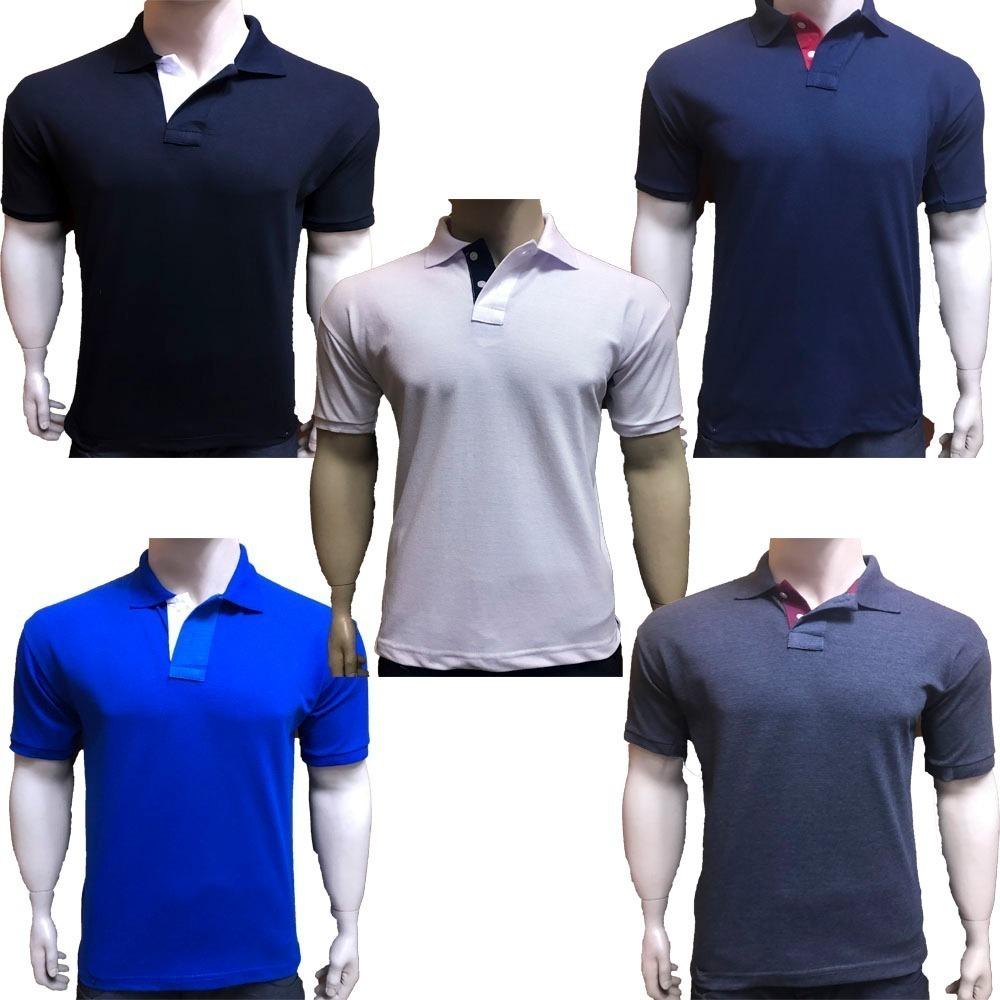 Kit 5 Camisas Gola Polo aca488df0a0ae