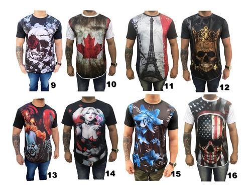 kit 5 camisas masculina long line swag moda oversize oferta