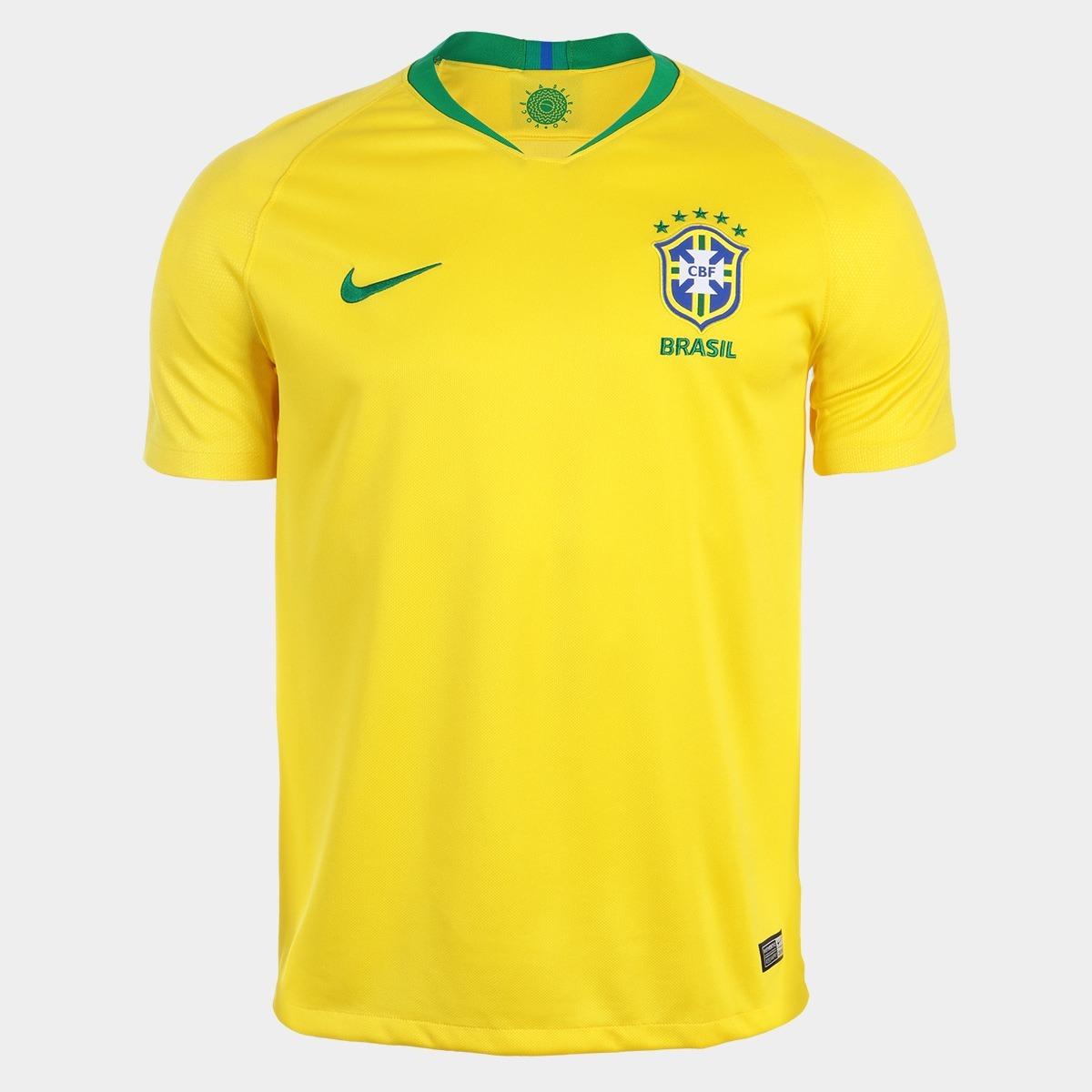 cb7bb77824 kit 5 camisas nova amarela da seleção brasileira copa 2018. Carregando zoom.