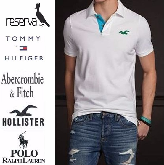 8eb86cdddf Kit 5 Camisas Polo Hollister Tommy Abercrombie Reserva - R  148