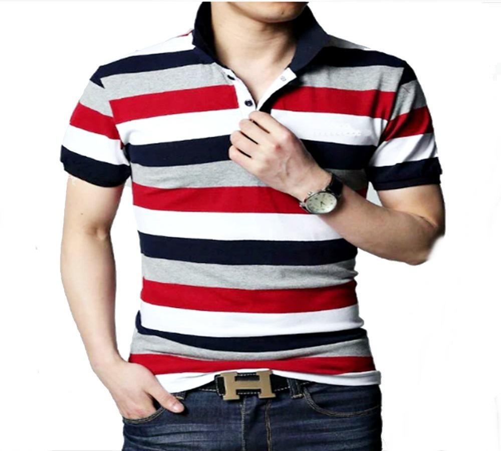 kit 5 camisas polo listra listrada masculina varias cores. Carregando zoom. 85bacee1ebe2c