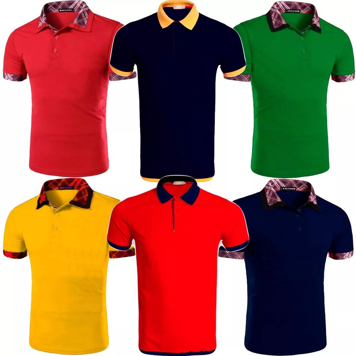 Kit 5 Camisas Polo Masculina Alto Padrao Blusa Camiseta Polo - R .. db1f6214c9c4f