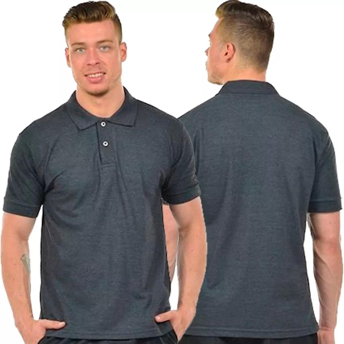2dee154631 Kit 5 Camisas Polo Masculina Camiseta Gola Atacado Uniforme - R  143 ...