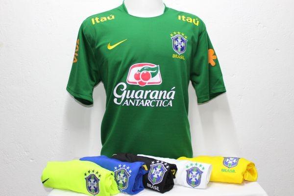 Kit 5 Camisas Seleçao Brasileira Treino Cores A Sua Escolha - R  259 ... 01fa0c7516060