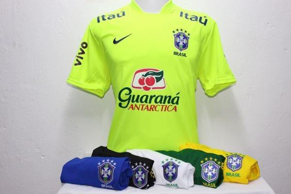 900dc908b6 Kit 5 Camisas Seleçao Brasileira Treino Cores A Sua Escolha - R  259 ...