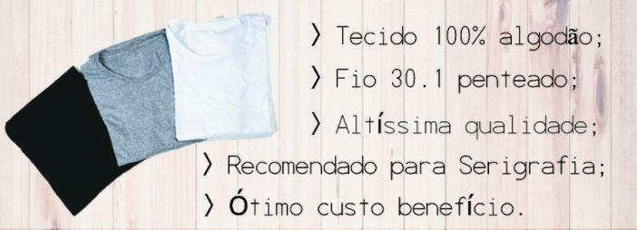 ac557045db Kit 5 Camisas Slim Fit Camisetas Básicas Lisas Masculinas - R  110 ...
