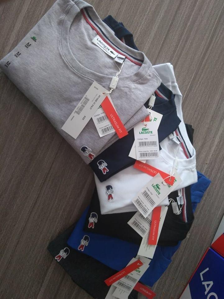 kit 5 camiseta basica lacoste frança original peruana tshirt. Carregando  zoom. 2e4496a47c9