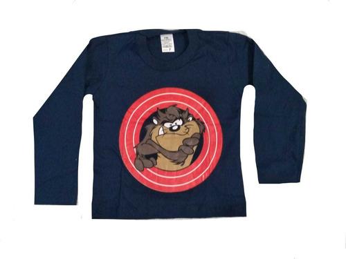 kit 5 camiseta blusa manga longa infantil personagem herois