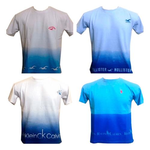 kit 5 camiseta camisa masculina marca cor degrade atacado