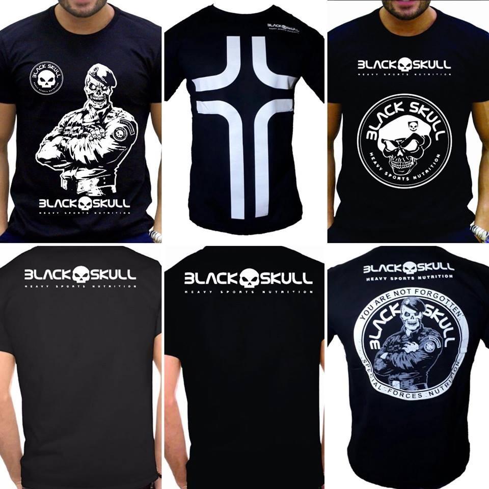 2ec4c34f9 kit 5 camiseta masculina black skull academia atacado. Carregando zoom.