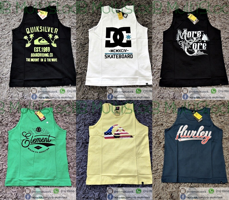 kit 5 camiseta regata infantil varias marcas atacado revenda. Carregando  zoom. 26cb1bf5bff