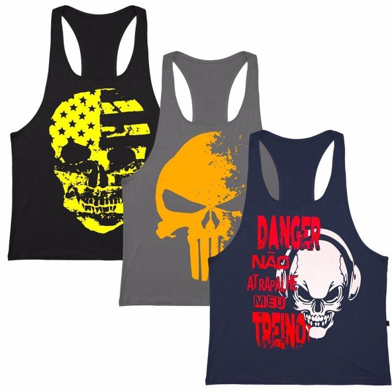 e505594df1ebd kit 5 camiseta regata masculina academia fitness top atacado. Carregando  zoom.
