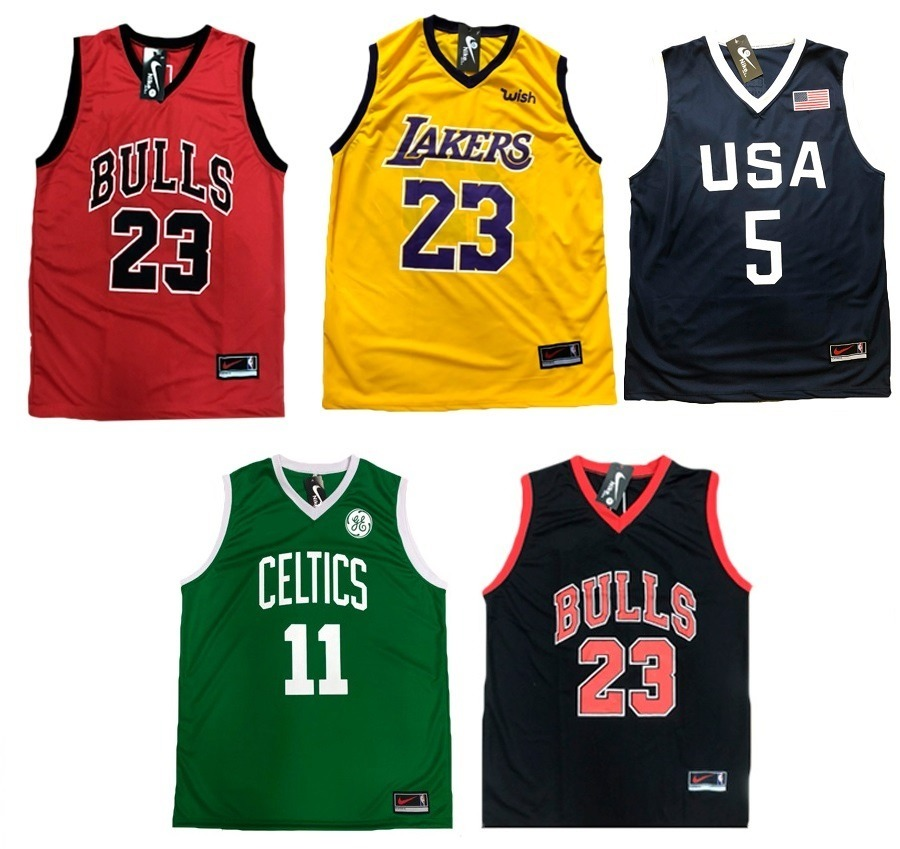 kit 5 camiseta regata nba basquete musculação academia. Carregando zoom. 6af8dec1fe9c8