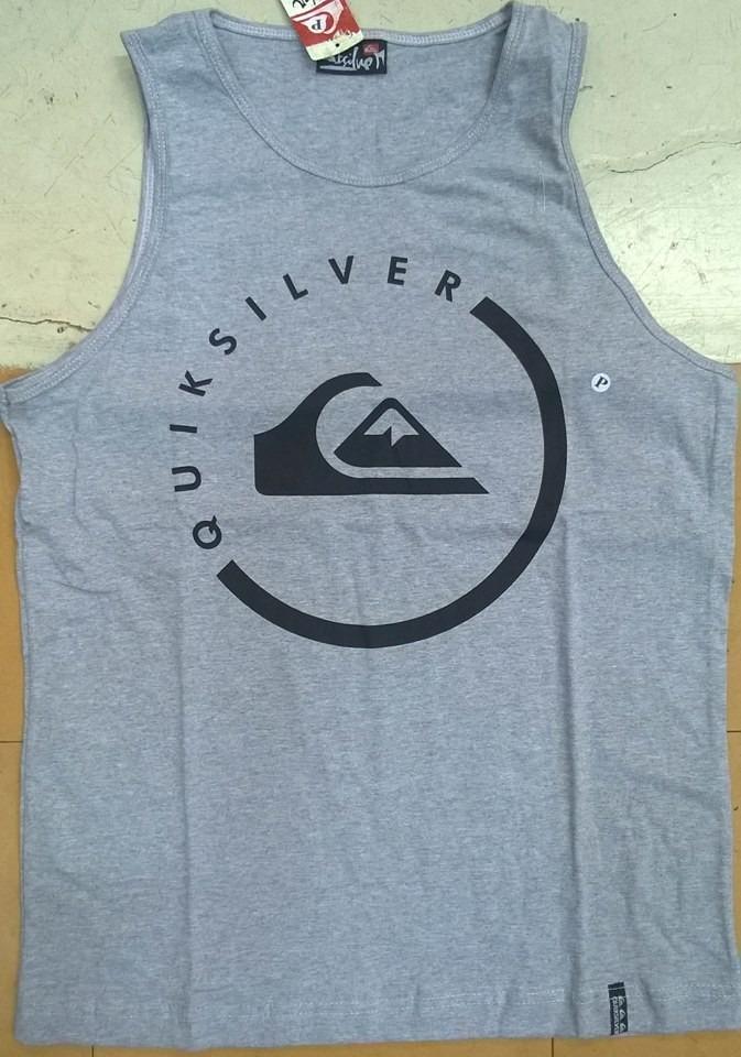 Kit 5 Camiseta Regata Quiksilver 100% Algodão Fio 30.1 - R  149,99 ... 31fd1c2cd1