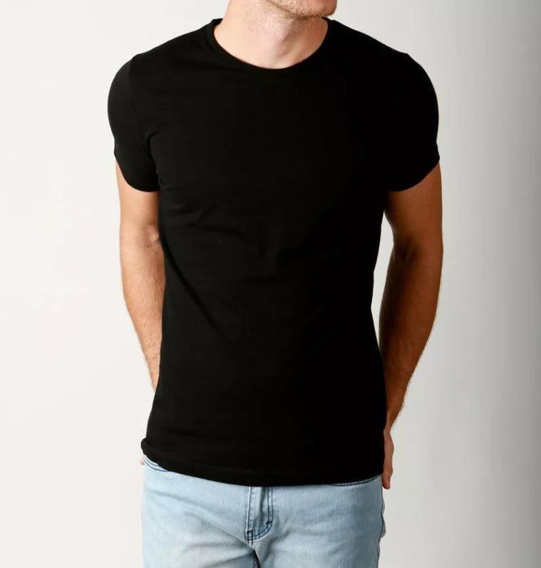 eff818ffb Kit 5 Camisetas Básica Lisa Slim Fit 100% Algodão - R  129