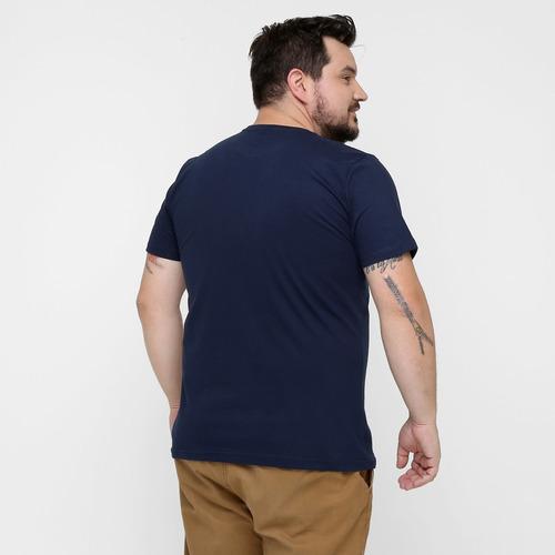 kit 5 camisetas de algodao plus size g8