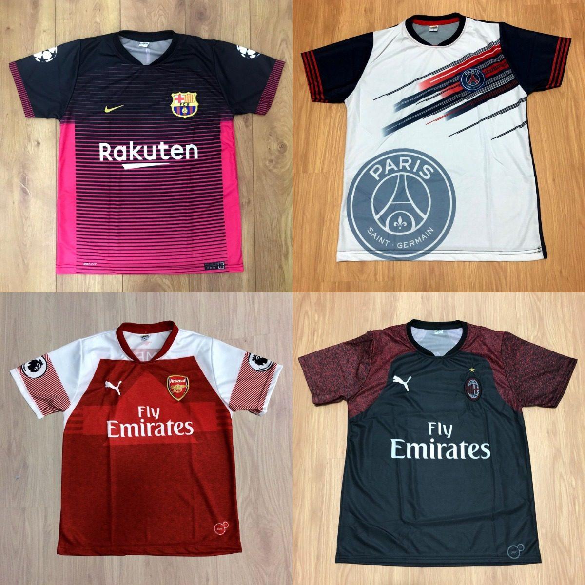 Kit 5 Camisetas De Time Camisas De Futebol 100 Modelos 2018 - R  119 ... c76758c8f6b57